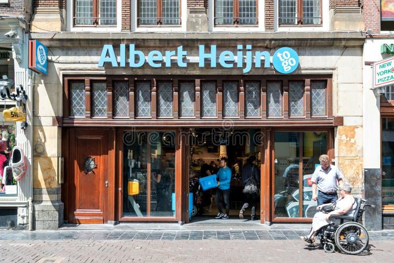 Albert Heijn, zu gehen Mini-Markt in Amsterdam, die Niederlande lizenzfreies stockfoto