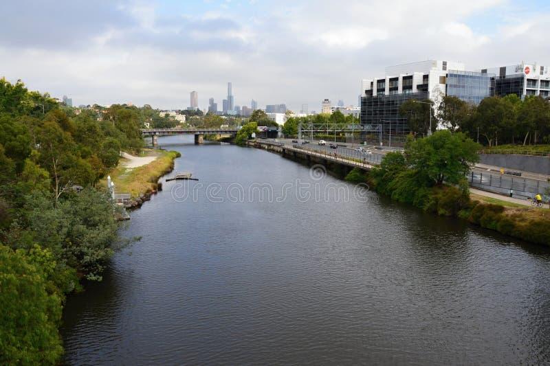 Albert jezioro w w centrum Melbourne i park obrazy stock