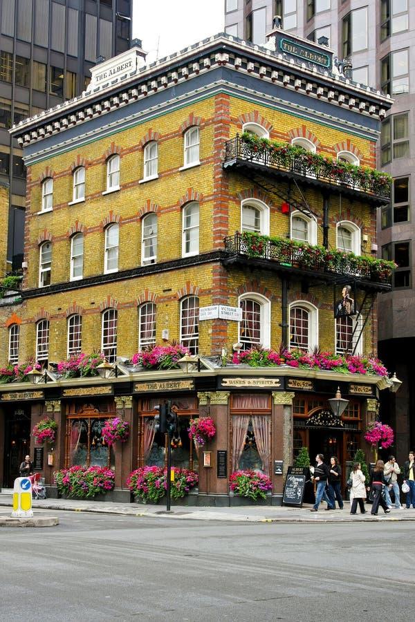 albert london pub royaltyfri fotografi