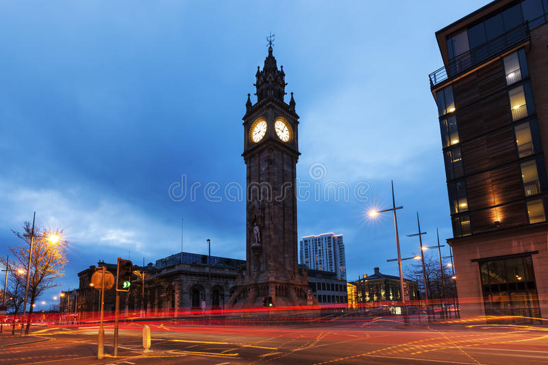 Albert Memorial Clock in Belfast stockbilder
