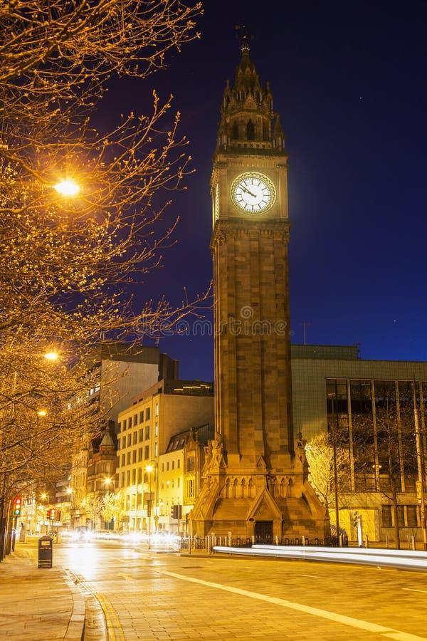 Albert Memorial Clock em Belfast fotografia de stock royalty free