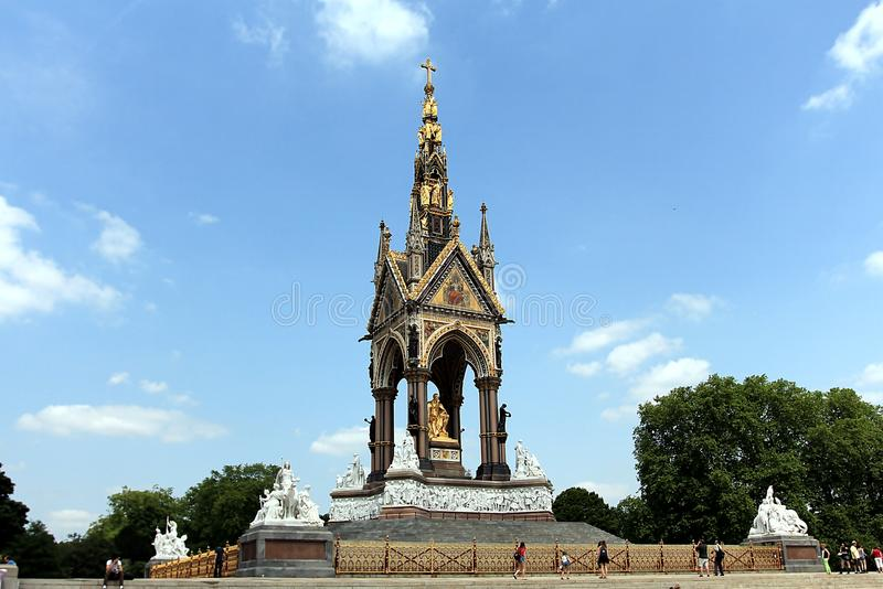 The Albert Memorial I. S situated in Kensington Gardens, London, England royalty free stock photography
