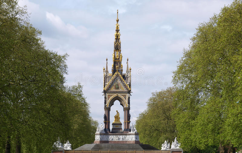 Albert Memorial, Londen stock afbeeldingen
