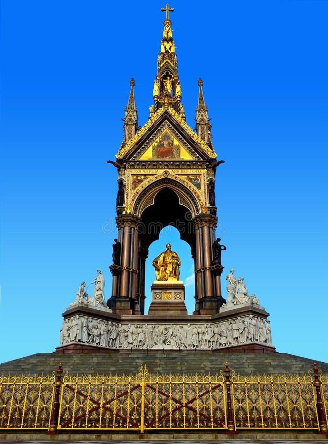 Albert Memorial London England royaltyfria foton