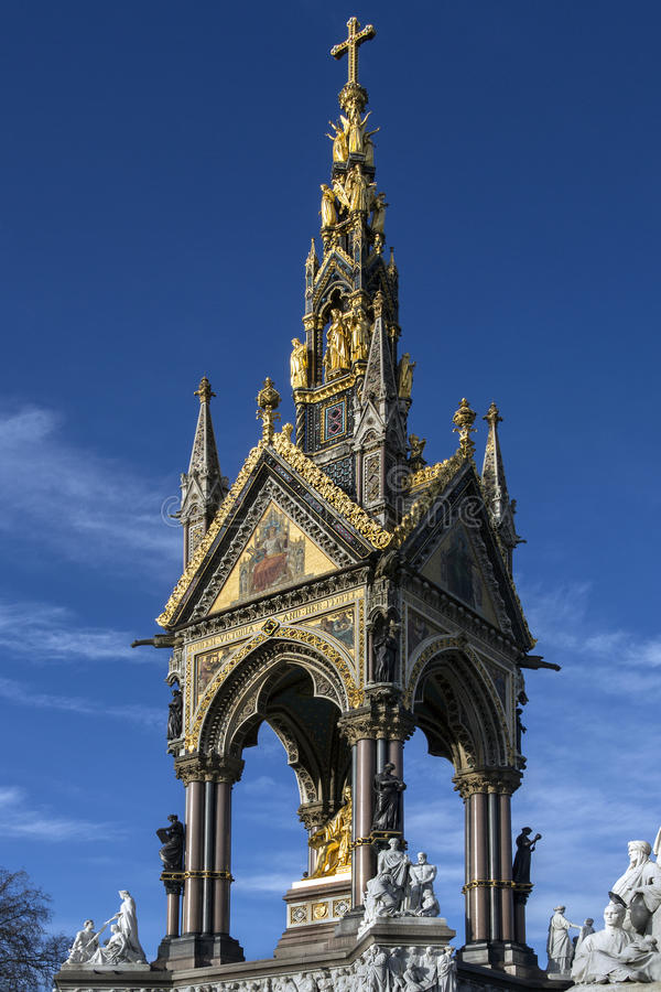 Albert Memorial - London - England royalty free stock photography