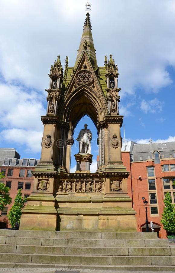 Albert Memorial, Manchester stockbilder