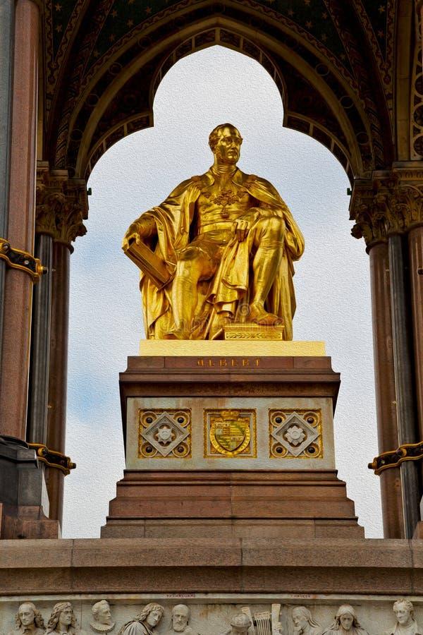 albert monument i london England kingdome och gammal konstruktion royaltyfri bild