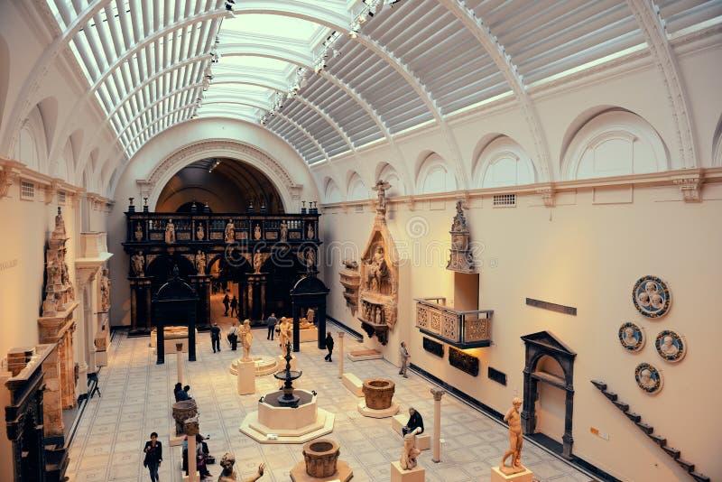 Albert och Victoria museuminre arkivfoto