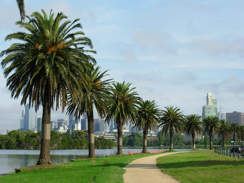 Albert Park in Melbourne stock afbeeldingen