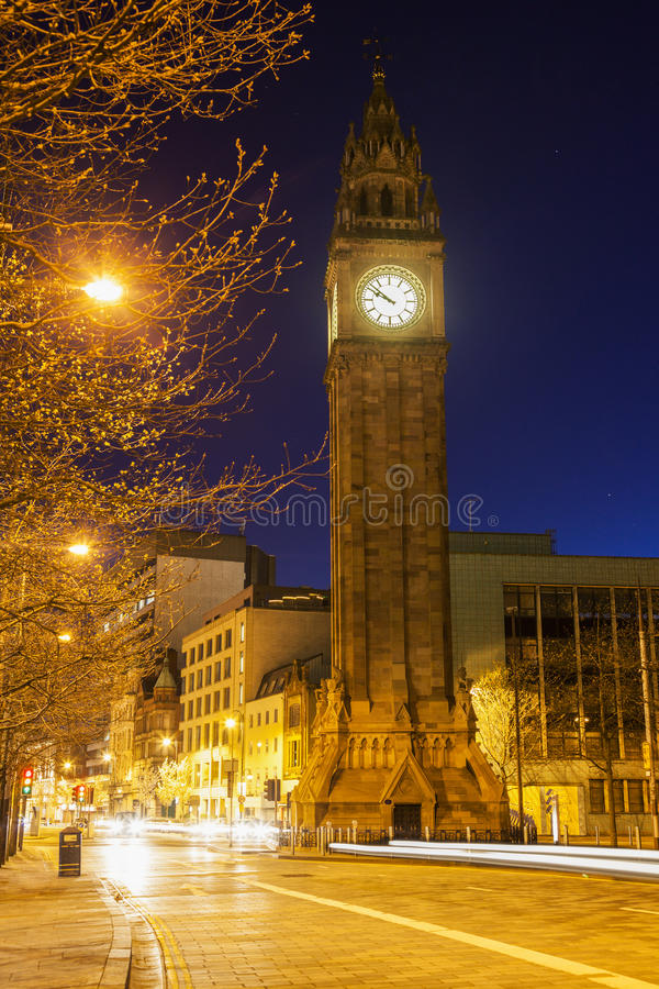 Albert pomnika zegar w Belfast fotografia royalty free