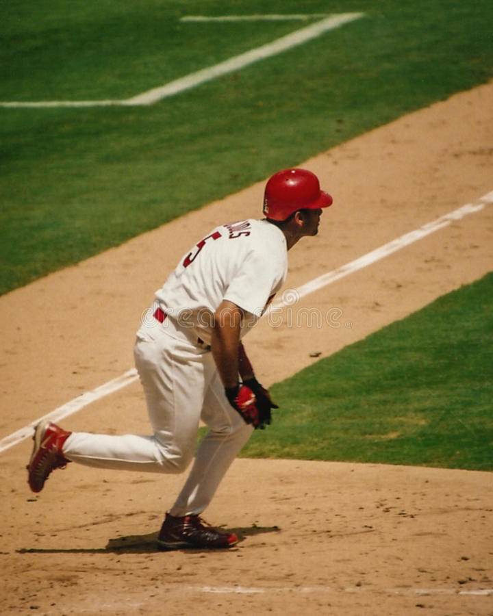 Albert Pujols from his rookie season. royalty free stock photography