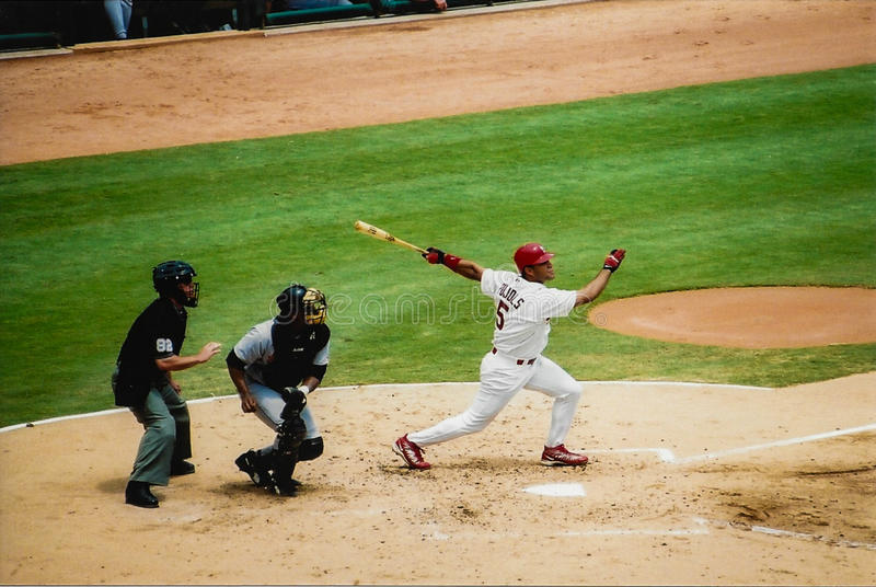 Albert Pujols from his rookie season. royalty free stock photos