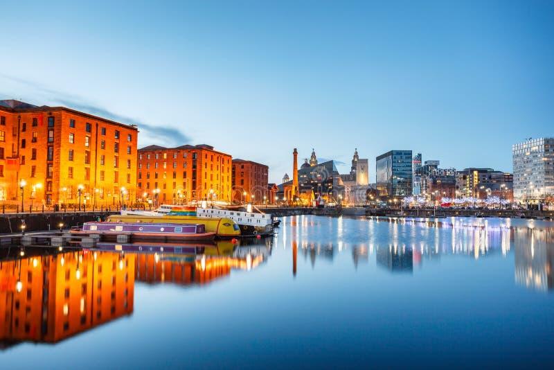 Albert skeppsdocka Liverpool England royaltyfri fotografi