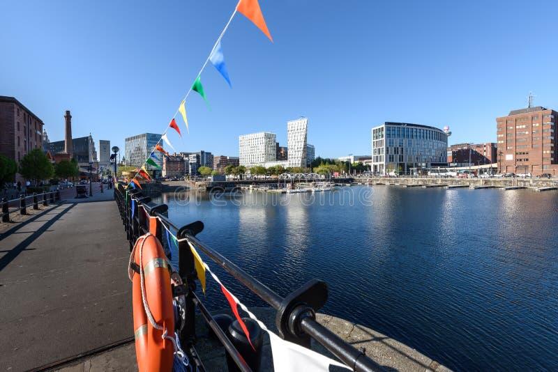 Albert skeppsdocka Liverpool UK fotografering för bildbyråer