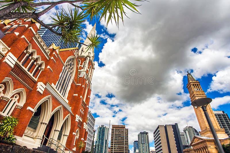 Albert Street Uniting Church Brisbane Australia immagini stock
