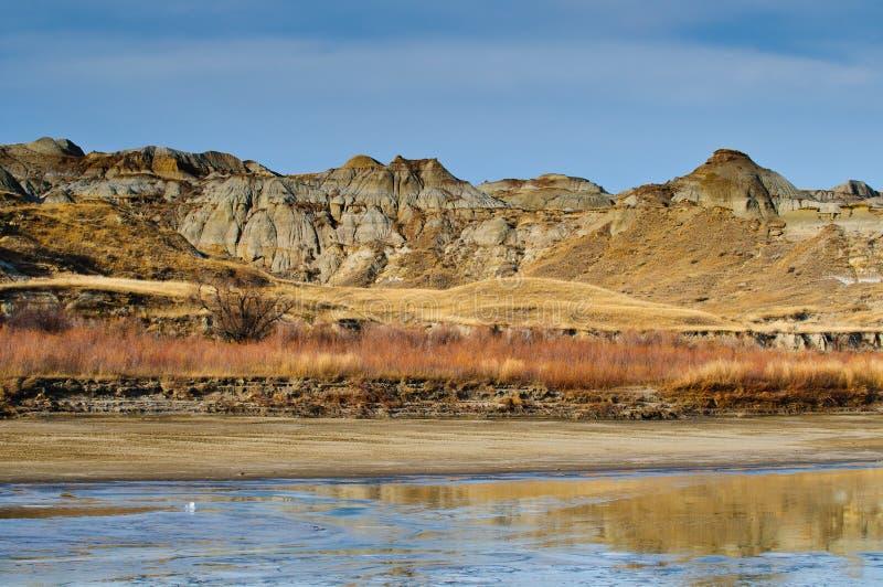 Alberta Badlands stock afbeeldingen
