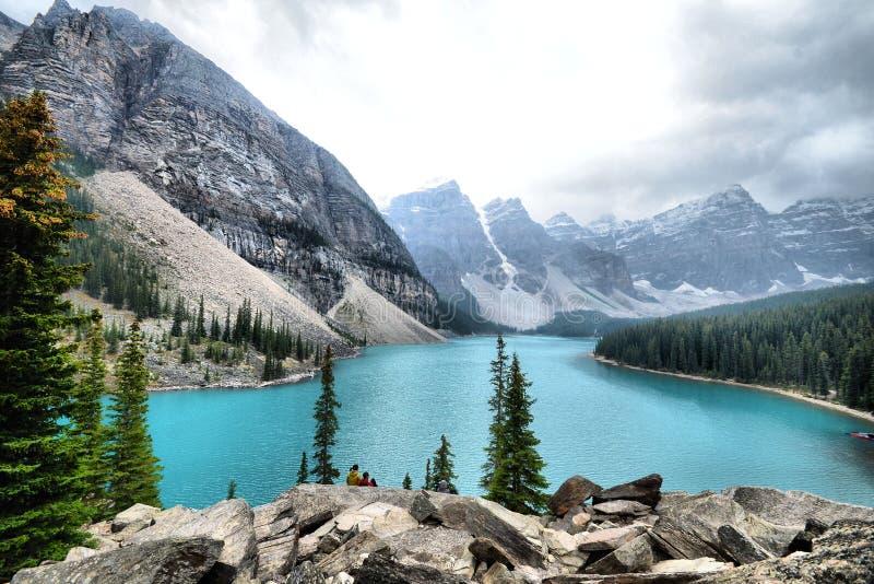 alberta Banff Canada jeziorny moreny park narodowy zdjęcie stock