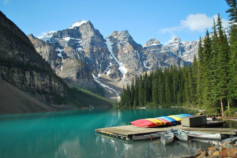 alberta Banff jeziora morena zdjęcie royalty free