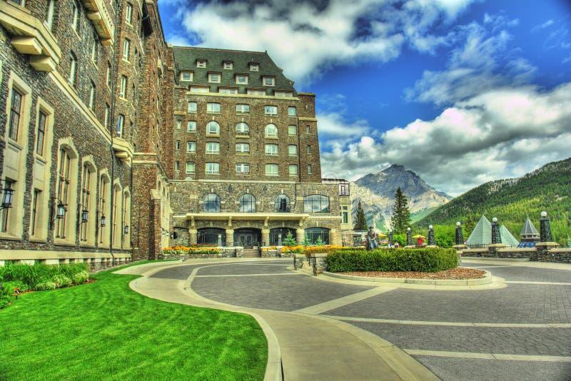 alberta banff Kanada hotell royaltyfria foton