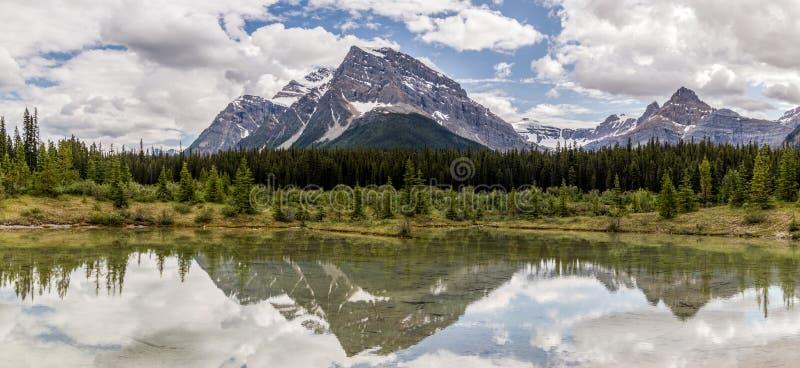 Alberta, Canada, beautiful Bow Lake at Banff National Park. Beautiful Bow Lake at Banff National Park, Alberta, Canada stock photos