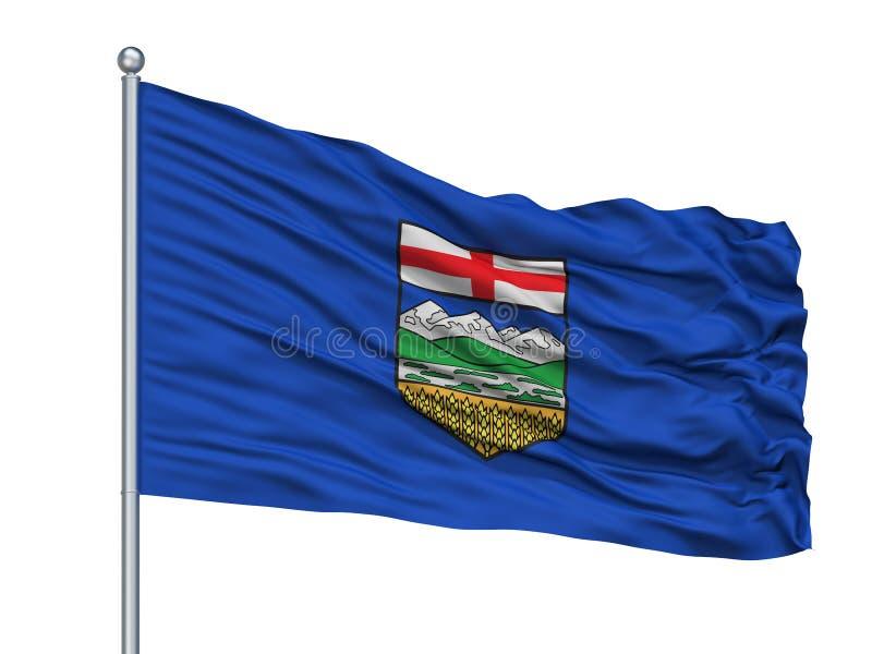 Alberta City Flag On Flagpole, Canadá, aislado en el fondo blanco libre illustration