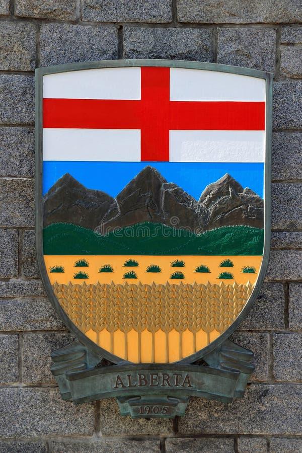 Alberta Coat of Arms, provincia di Prairie, Canada occidentale fotografia stock libera da diritti