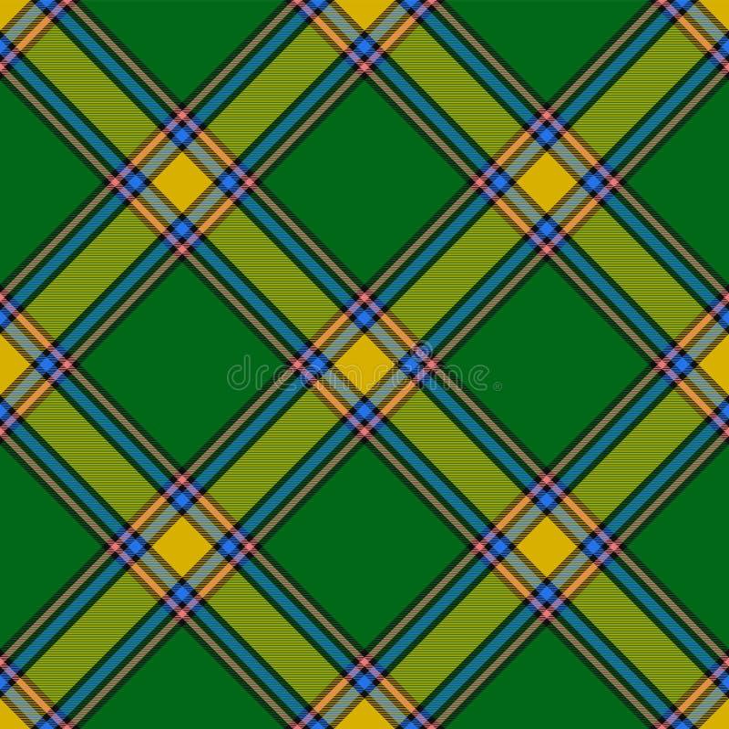 Alberta District Tartan Diagonale Zelle, nahtloses Muster für Gewebe, Kilts, Röcke, Plaids stock abbildung