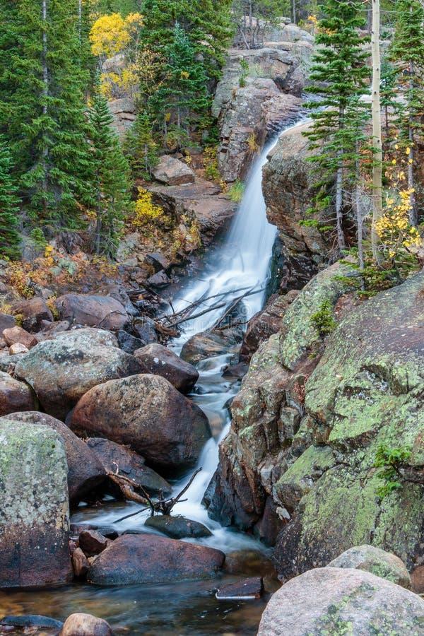 Alberta Falls Rocky Mountain National Park stock photography
