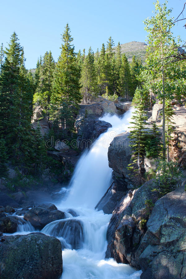 Alberta Falls In Rocky Mountains Stock Images