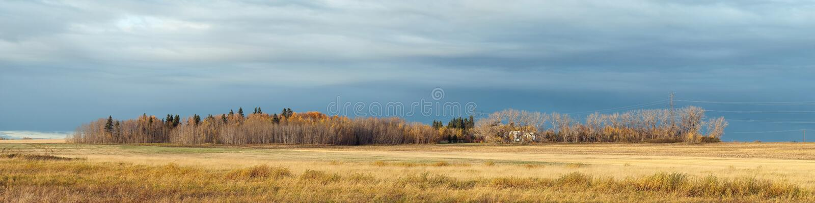 Alberta Farm In The Autumn Royalty Free Stock Photography