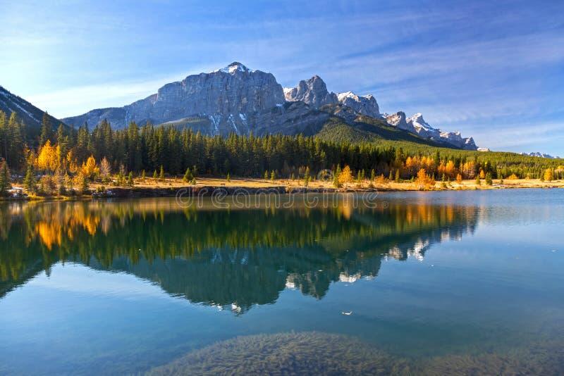 Alberta Foothills Autumn Landscape imagens de stock