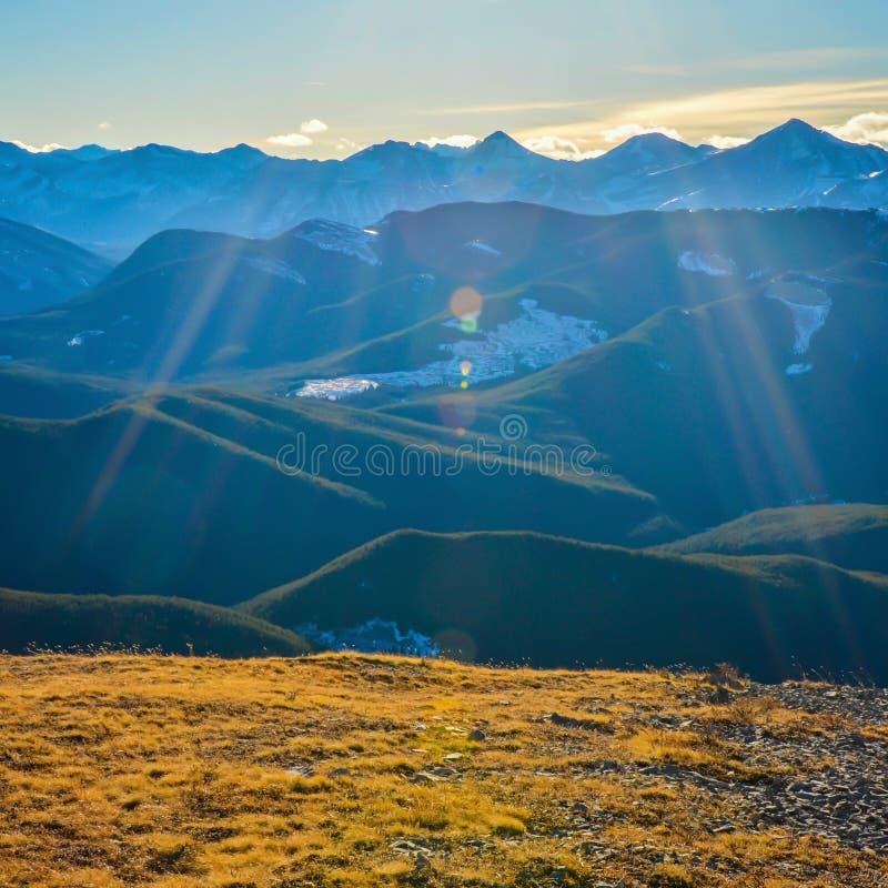Alberta góry krajobraz z obiektywu racą fotografia royalty free
