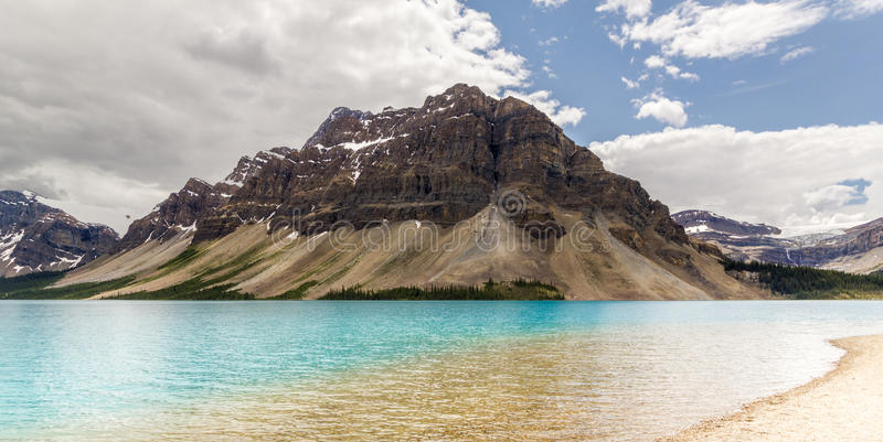Alberta, Kanada, piękny Łęk jezioro przy Banff parkiem narodowym zdjęcia royalty free