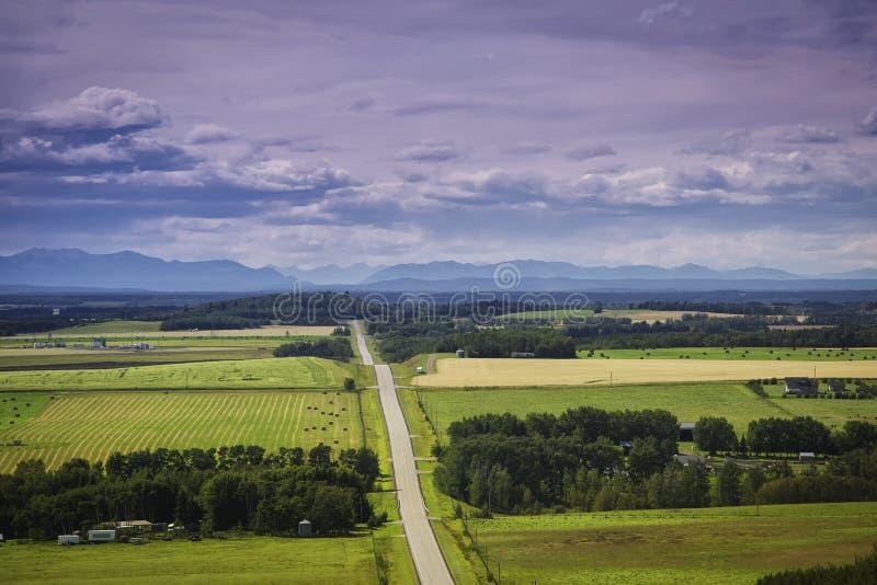 Alberta Landscape royalty-vrije stock afbeelding