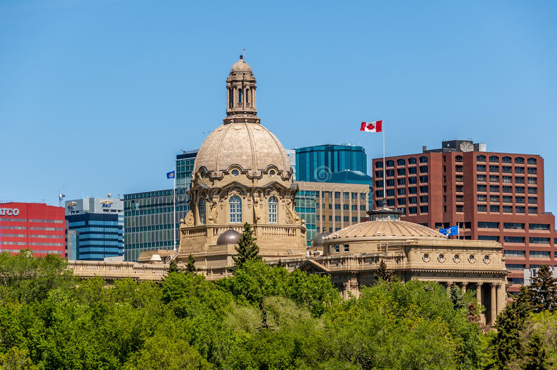 Alberta Legislature Building in Edmonton lizenzfreie stockbilder