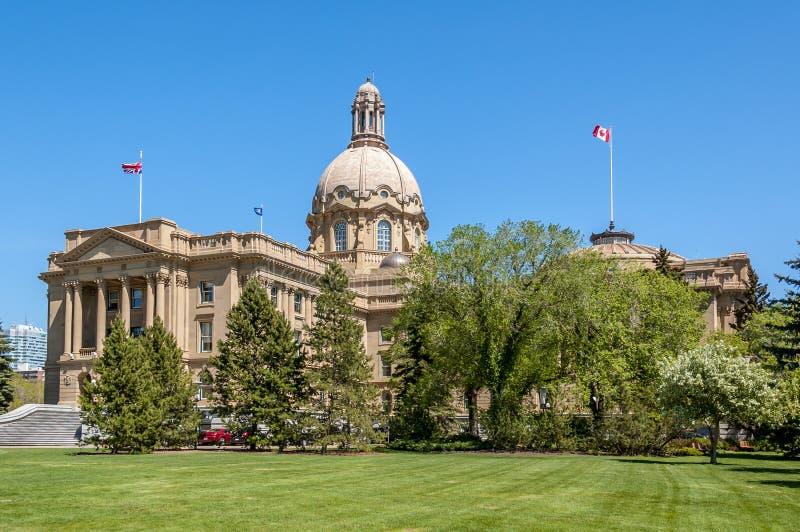 Alberta Legislature Building in Edmonton royalty-vrije stock afbeeldingen