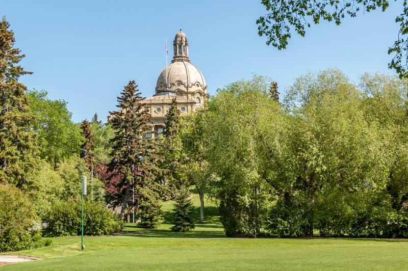 Alberta Legislature Building in Edmonton royalty-vrije stock foto