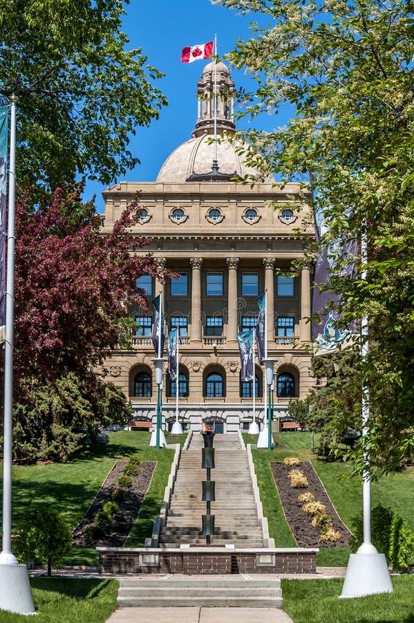 Alberta Legislature Building em Edmonton imagem de stock royalty free