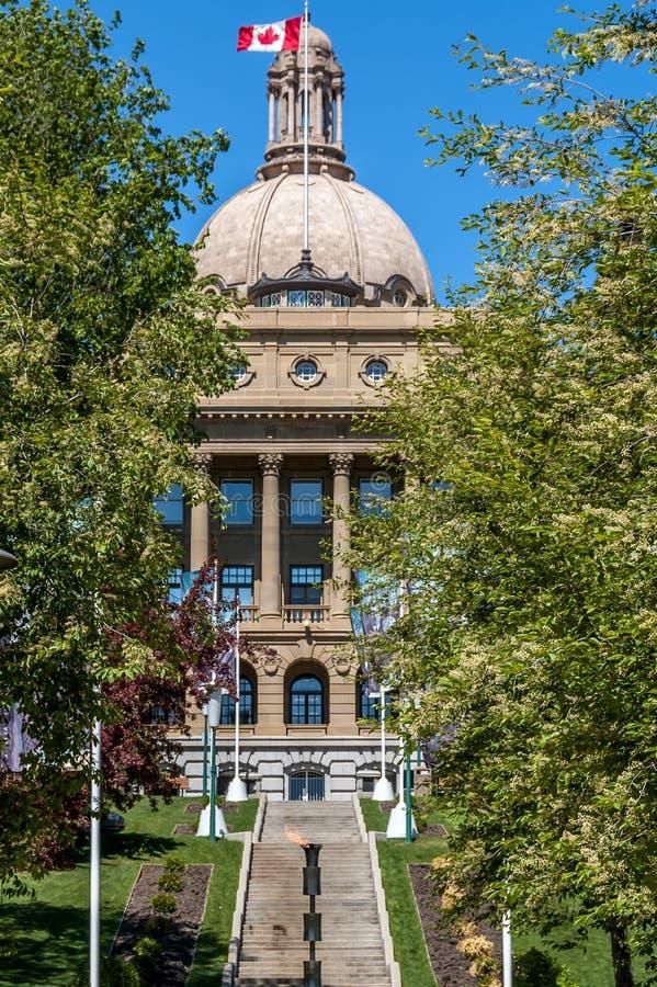 Alberta Legislature Building en Edmonton fotografía de archivo