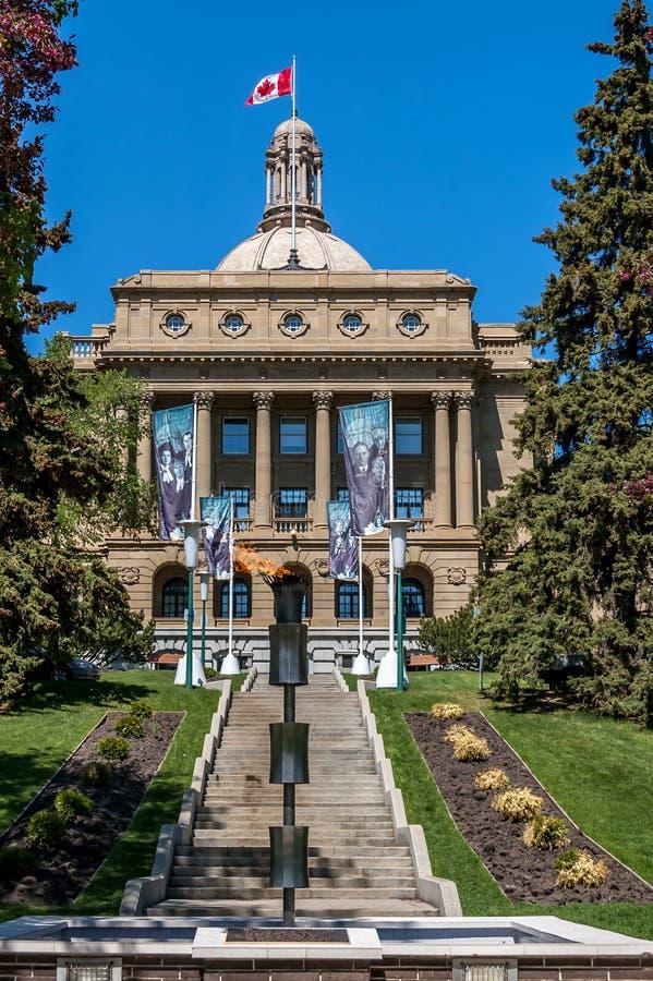Alberta Legislature Building i Edmonton royaltyfria bilder