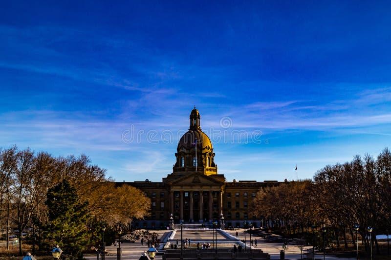 Alberta Legislature Grounds Edmonton Alberta Kanada lizenzfreie stockfotos