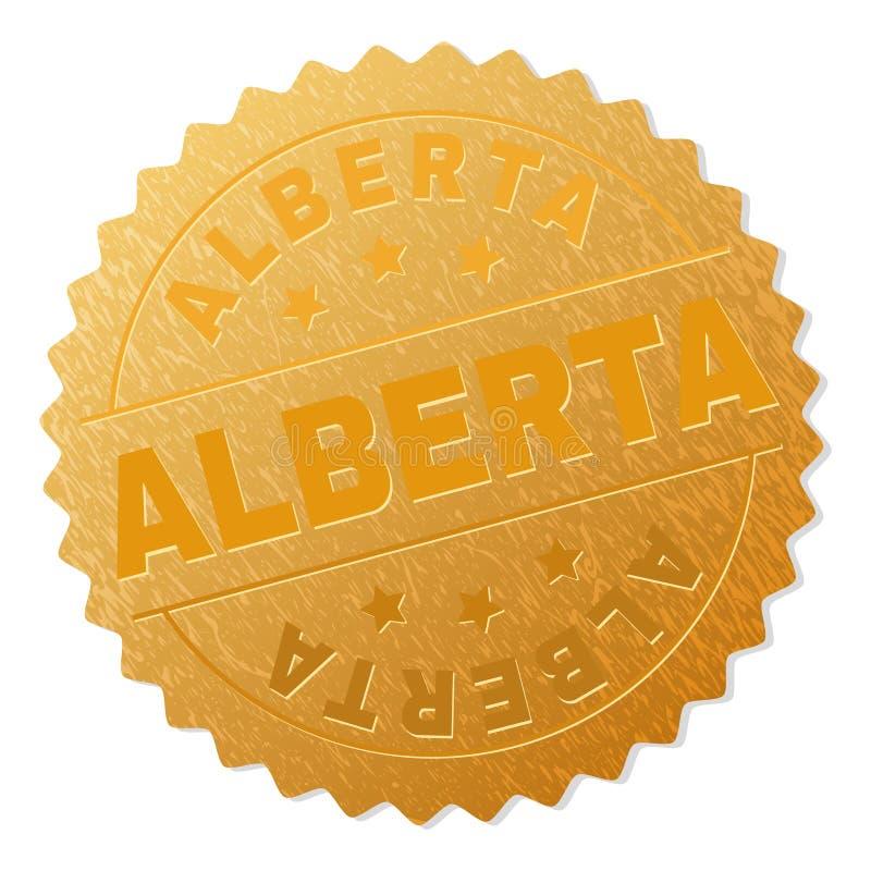 Or ALBERTA Medal Stamp illustration stock