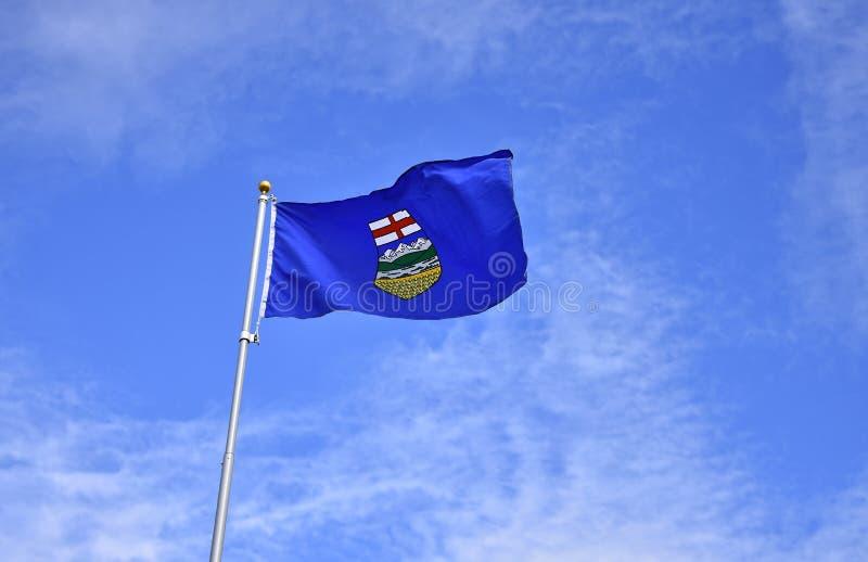 Alberta Provincial Flag fotografie stock libere da diritti