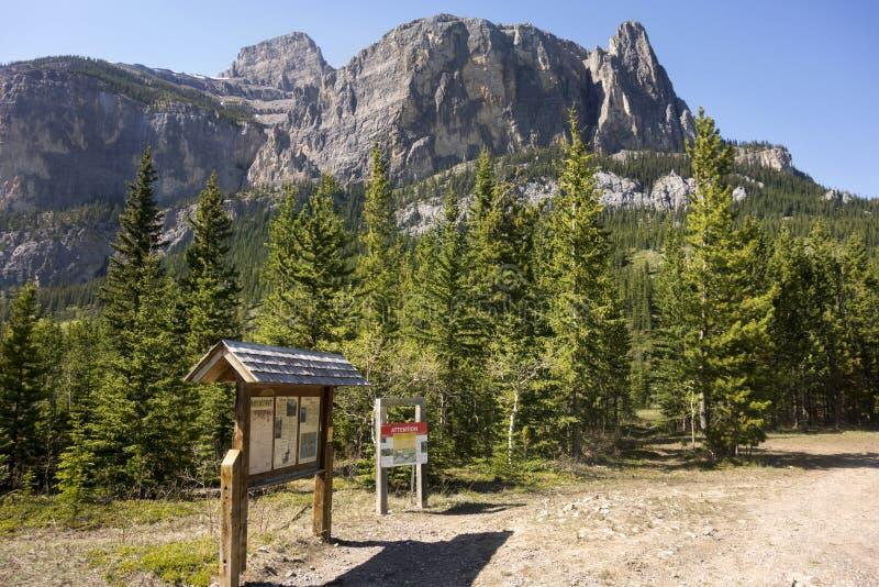 Albertas Foothills Devils för område för spöke för gräns för Banff nationalpark östliga Gap royaltyfri fotografi