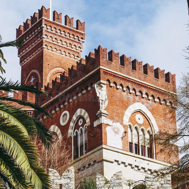Alberti Castle στη Γένοβα Ιταλία στοκ φωτογραφία