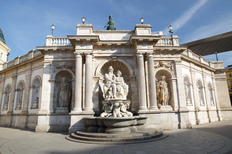 Albertina Museum in het Paleis van Aartshertog Albrecht wordt gevestigd die stock foto