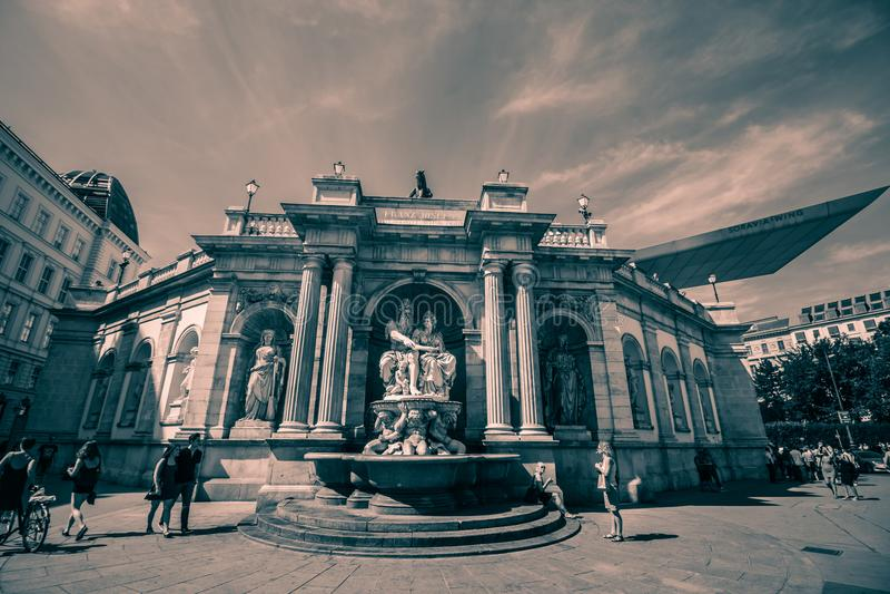 Albertinaplatz - Albertina Square - Vienne - l'Autriche image libre de droits