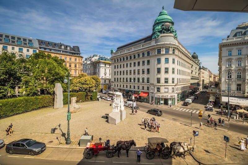 Albertinaplatz - Albertina Square - Vienne - l'Autriche images libres de droits
