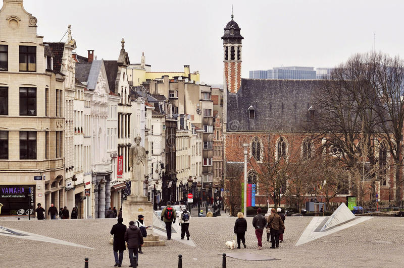 Albertine Square - Bruselas fotos de archivo