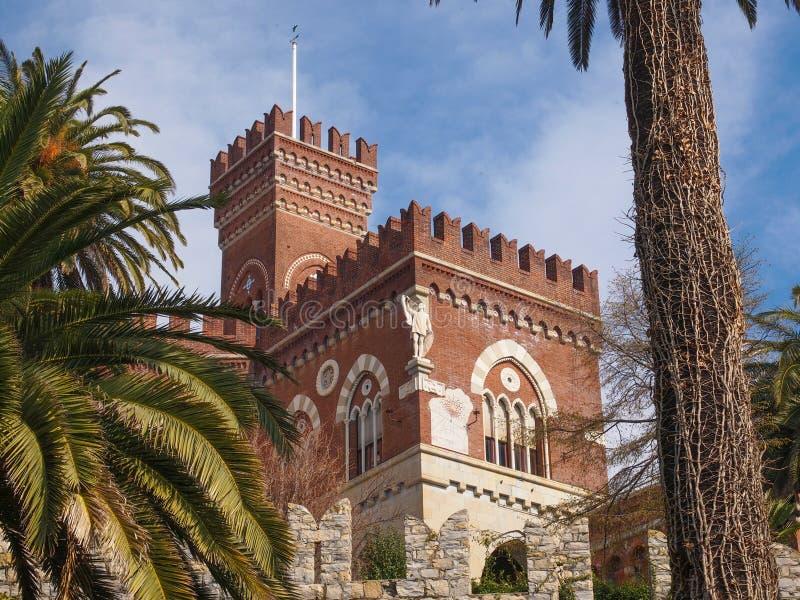 Albertis slott i Genoa Italy royaltyfria foton